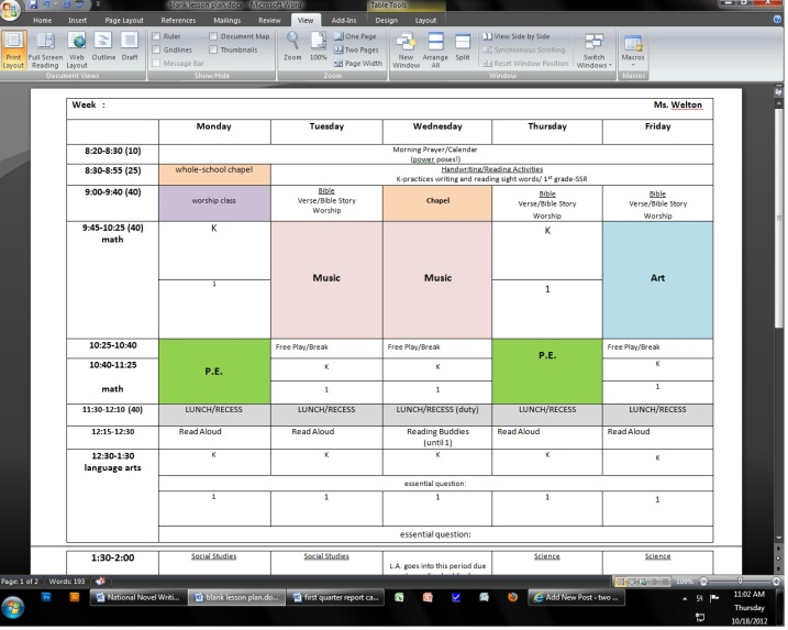 Looking For A Lesson Plan Template?